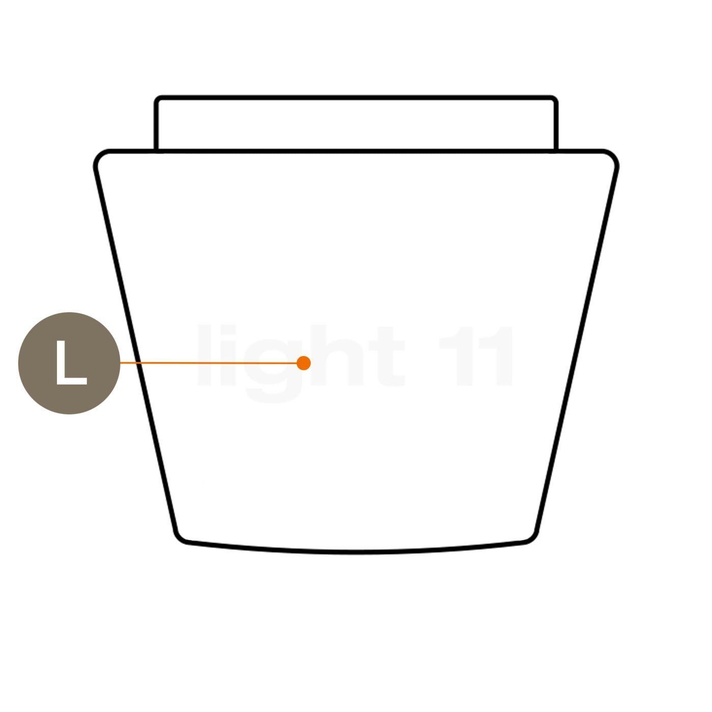 Serien Lighting abat-jour en verre pour Annex - pièce détachée, Abat-jour en verre pour joint en caoutchouc, grand, pour l'annexe Halogène