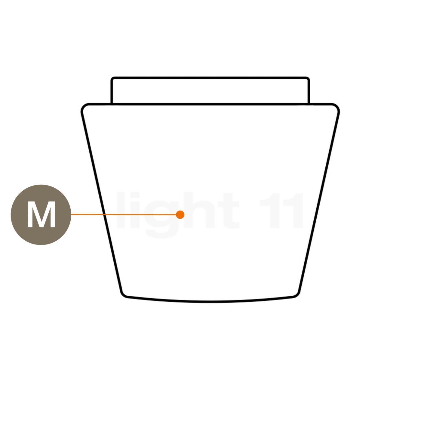 Serien Lighting abat-jour en verre pour Annex - pièce détachée, Abat-jour en verre pour joint en caoutchouc, moyen, pour l'annexe Halogène