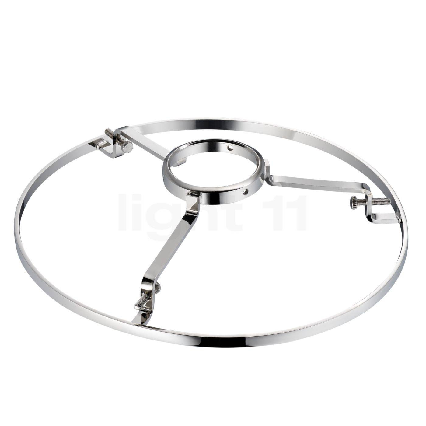 Tecnolumen Anneau de support de verre pour Wagenfeld, Pièce de rechange, nickel