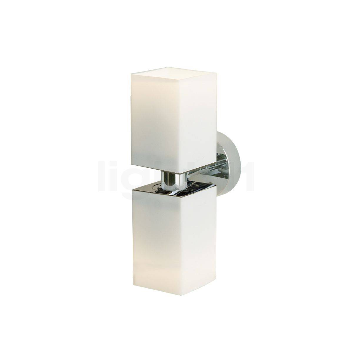 Top Light Cube mini Applique murale 2 foyers, chrome brillant