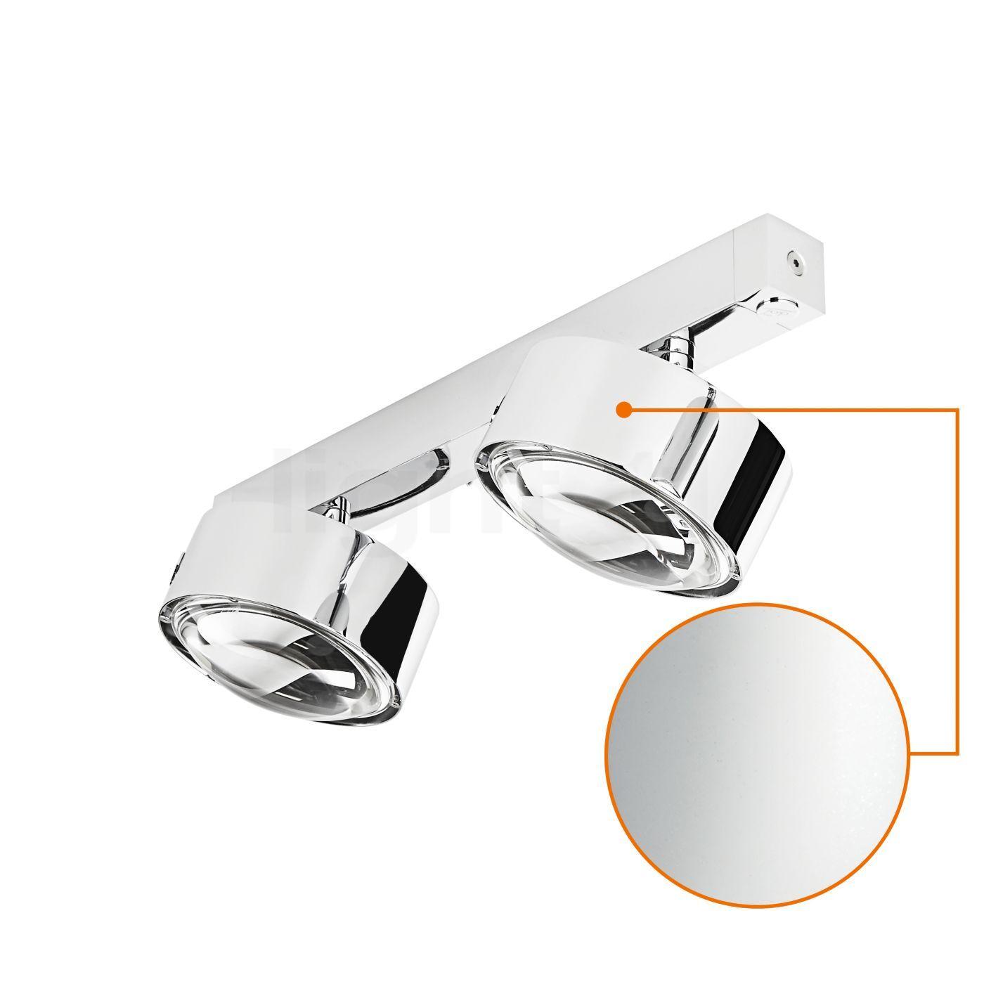 Top Light Puk Maxx Choice Move 35 cm Applique/Plafonnier, chrome mat/lentille mate