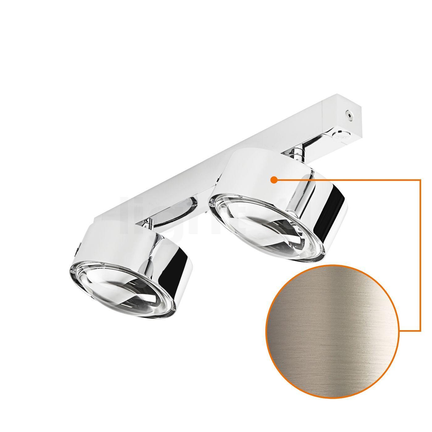Top Light Puk Maxx Choice Move 35 cm Applique/Plafonnier, nickel mat/lentille claire