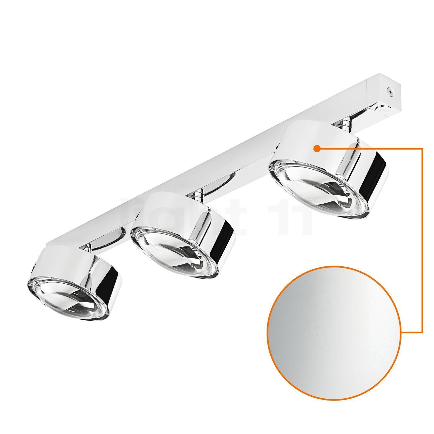 Top Light Puk Maxx Choice Move 65 cm Applique/Plafonnier, chrome mat/lentille mate