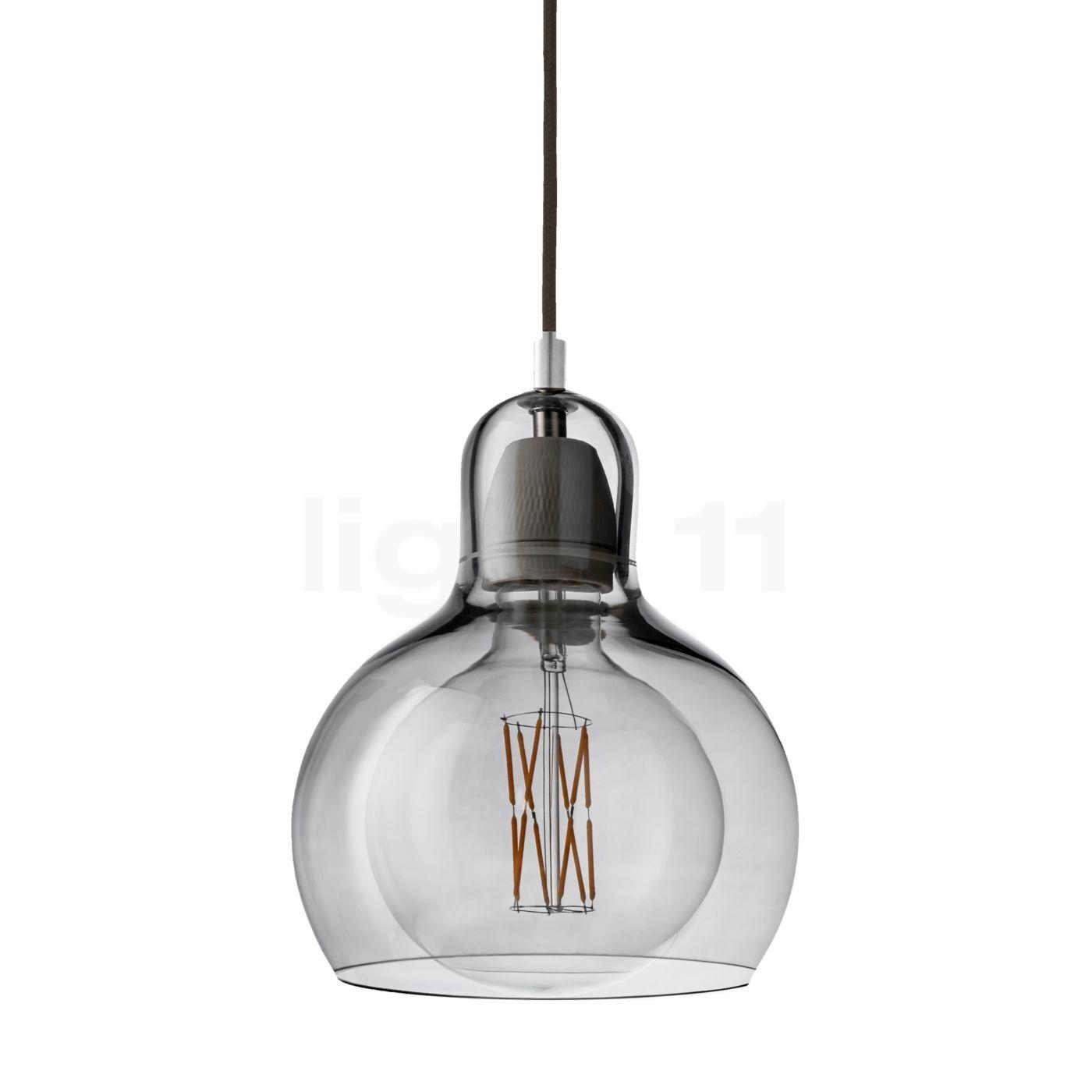 &tradition Mega Bulb SR2 Suspension, argenté/câble textile noir
