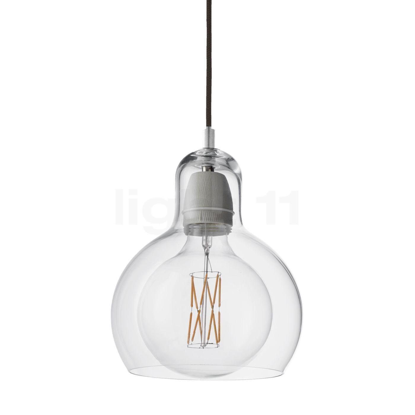 &tradition Mega Bulb SR2 Suspension, transparent/câble textile noir