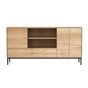 ETHNICRAFT meuble buffet WHITEBIRD avec 3 portes et 2 tiroirs (Naturel - chêne) - Publicité