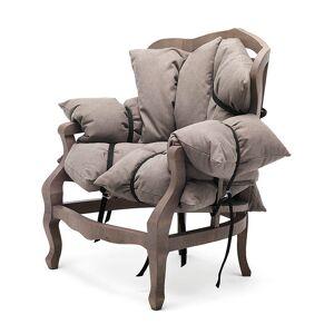 MOGG fauteuil 7 PILLOWS (Tons de marron - bois Hêtre massif et tissu: 90% coton - 10% polyester) - Publicité