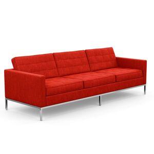 KNOLL canapé à 3 places FLORENCE en tissu (Rivington Scarlet - Revêtement Cat. S et structure en acier chromé) - Publicité