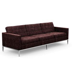 KNOLL canapé à 3 places FLORENCE en tissu (Rivington Aubergine - Revêtement Cat. S et structure en acier chromé) - Publicité