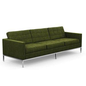 KNOLL canapé à 3 places FLORENCE en tissu (Rivington Palm - Revêtement Cat. S et structure en acier chromé) - Publicité