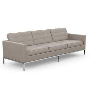 KNOLL canapé à 3 places FLORENCE en tissu (Ultrasuede Silver - Revêtement Cat. A et structure en acier chromé) - Publicité