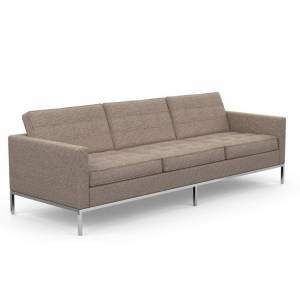 KNOLL canapé à 3 places FLORENCE en tissu (Cato Sand - Revêtement Cat. B et structure en acier chromé) - Publicité