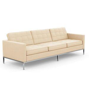 KNOLL canapé à 3 places FLORENCE en tissu (Cato Ivory - Revêtement Cat. B et structure en acier chromé) - Publicité