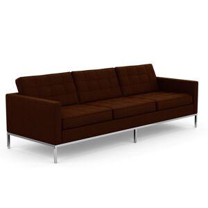 KNOLL canapé à 3 places FLORENCE en tissu (Cato Brown - Revêtement Cat. B et structure en acier chromé) - Publicité