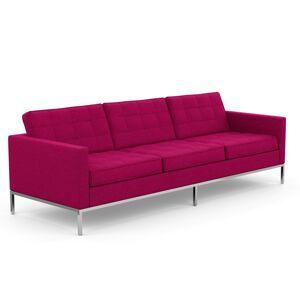 KNOLL canapé à 3 places FLORENCE en tissu (Cato Hot Pink - Revêtement Cat. B et structure en acier chromé) - Publicité