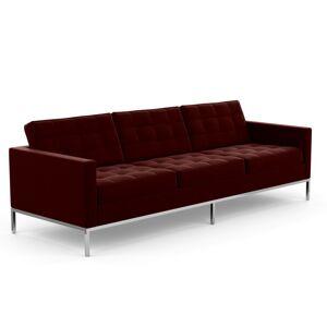 KNOLL canapé à 3 places FLORENCE en tissu (Knoll Velvet Wine - Revêtement Cat. B et structure en acier chromé) - Publicité