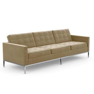 KNOLL canapé à 3 places FLORENCE en tissu (Knoll Velvet Sandstone - Revêtement Cat. B et structure en acier chromé) - Publicité
