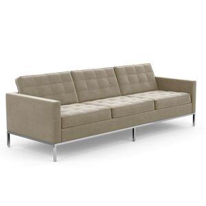 KNOLL canapé à 3 places FLORENCE en tissu (Knoll Velvet Silver - Revêtement Cat. B et structure en acier chromé) - Publicité