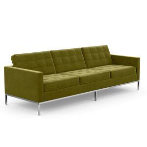 KNOLL canapé à 3 places FLORENCE en tissu (Knoll Velvet Moss - Revêtement Cat. B et structure en acier chromé) - Publicité