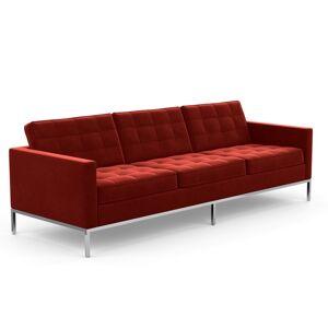 KNOLL canapé à 3 places FLORENCE en tissu (Knoll Velvet Tomato - Revêtement Cat. B et structure en acier chromé) - Publicité