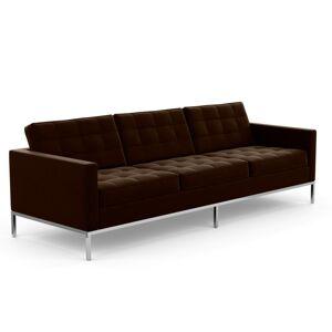 KNOLL canapé à 3 places FLORENCE en tissu (Knoll Velvet Espresso - Revêtement Cat. B et structure en acier chromé) - Publicité