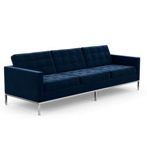 KNOLL canapé à 3 places FLORENCE en tissu (Knoll Velvet Aviator - Revêtement Cat. B et structure en acier chromé) - Publicité