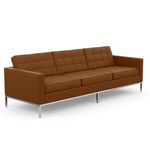 KNOLL canapé à 3 places FLORENCE en cuir (Volo Toast - Revêtement Cat. X et structure en acier chromé) - Publicité
