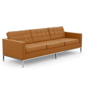 KNOLL canapé à 3 places FLORENCE en cuir (Volo Tan - Revêtement Cat. X et structure en acier chromé) - Publicité