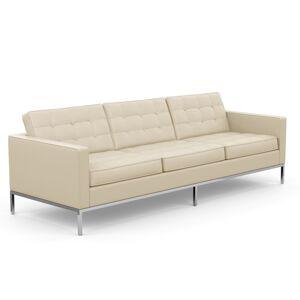KNOLL canapé à 3 places FLORENCE en cuir (Volo Parchment - Revêtement Cat. X et structure en acier chromé) - Publicité
