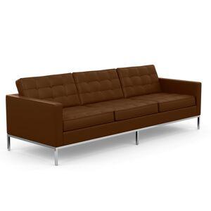 KNOLL canapé à 3 places FLORENCE en cuir (Sabrina Nutmeg - Revêtement Cat. Z et structure en acier chromé) - Publicité