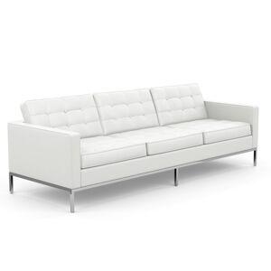 KNOLL canapé à 3 places FLORENCE en cuir (Sabrina White - Revêtement Cat. Z et structure en acier chromé) - Publicité