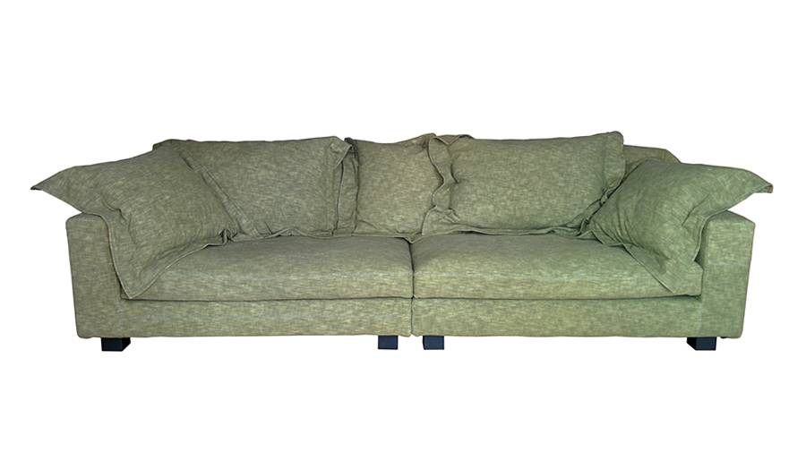 Diesel WITH MOROSO canapé NEBULA NINE SOFA 280x110 cm (Grain vert - Tissu Cat. Q)