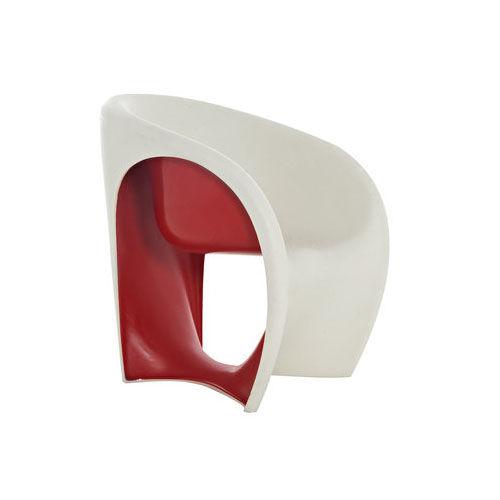 DRIADE fauteuil MT1 (Sable blanc / Rouge - Polyéthylène)