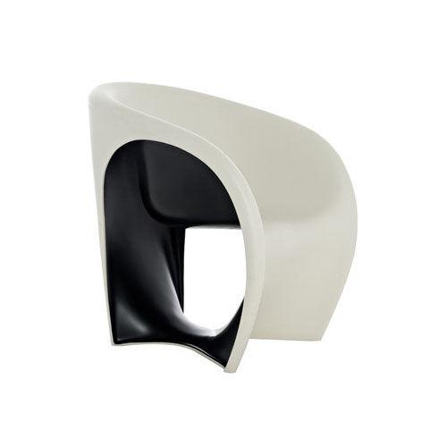DRIADE fauteuil MT1 (Sable blanc / Noir - Polyéthylène)