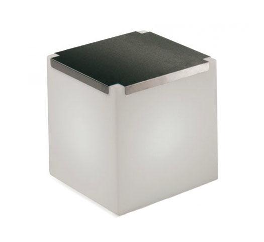 SLIDE élément lumineux KUBO (Inox - Polyéthylène / acier)