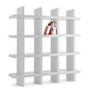 SLIDE bibliothèque MY BOOK 4X4 (Blanc lait - Polyéthylène)