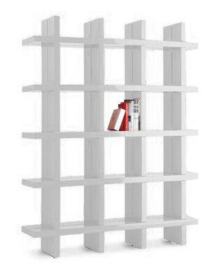 SLIDE bibliothèque MY BOOK 4X5 (Blanc lait - Polyéthylène)
