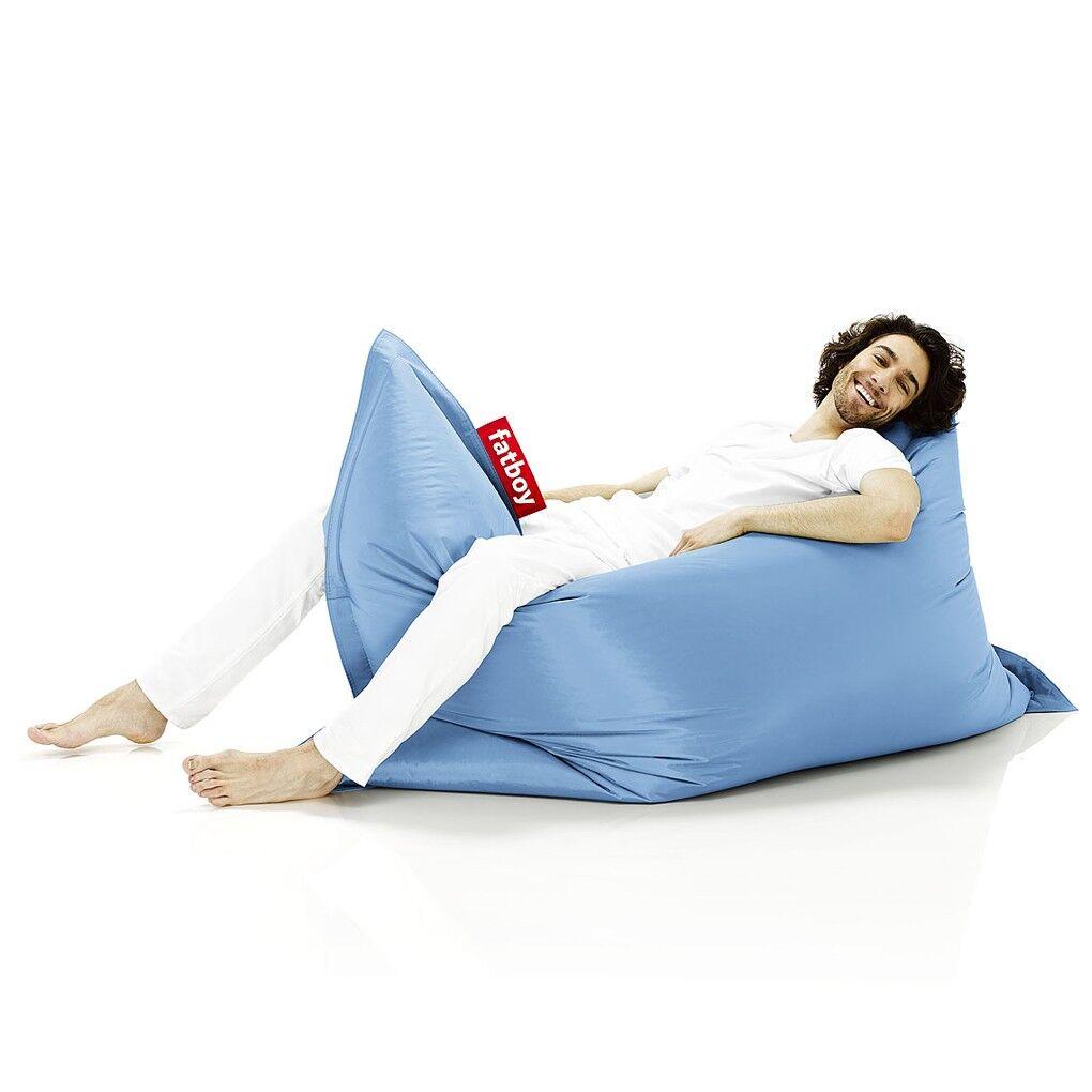 FATBOY pouf fauteuil THE ORIGINAL (Bleu Glace - Nylon)