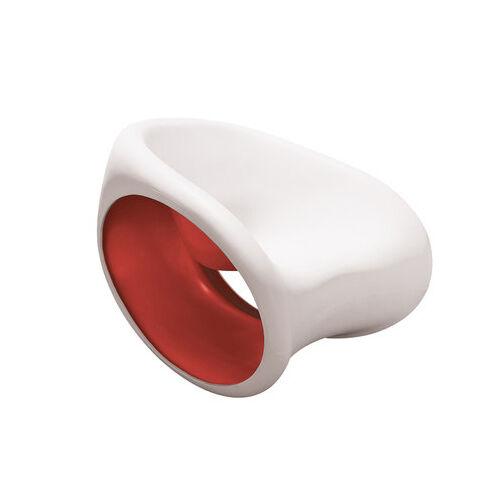 DRIADE fauteuil à bascule MT3 (Sable blanc / Rouge - Polyéthylène)