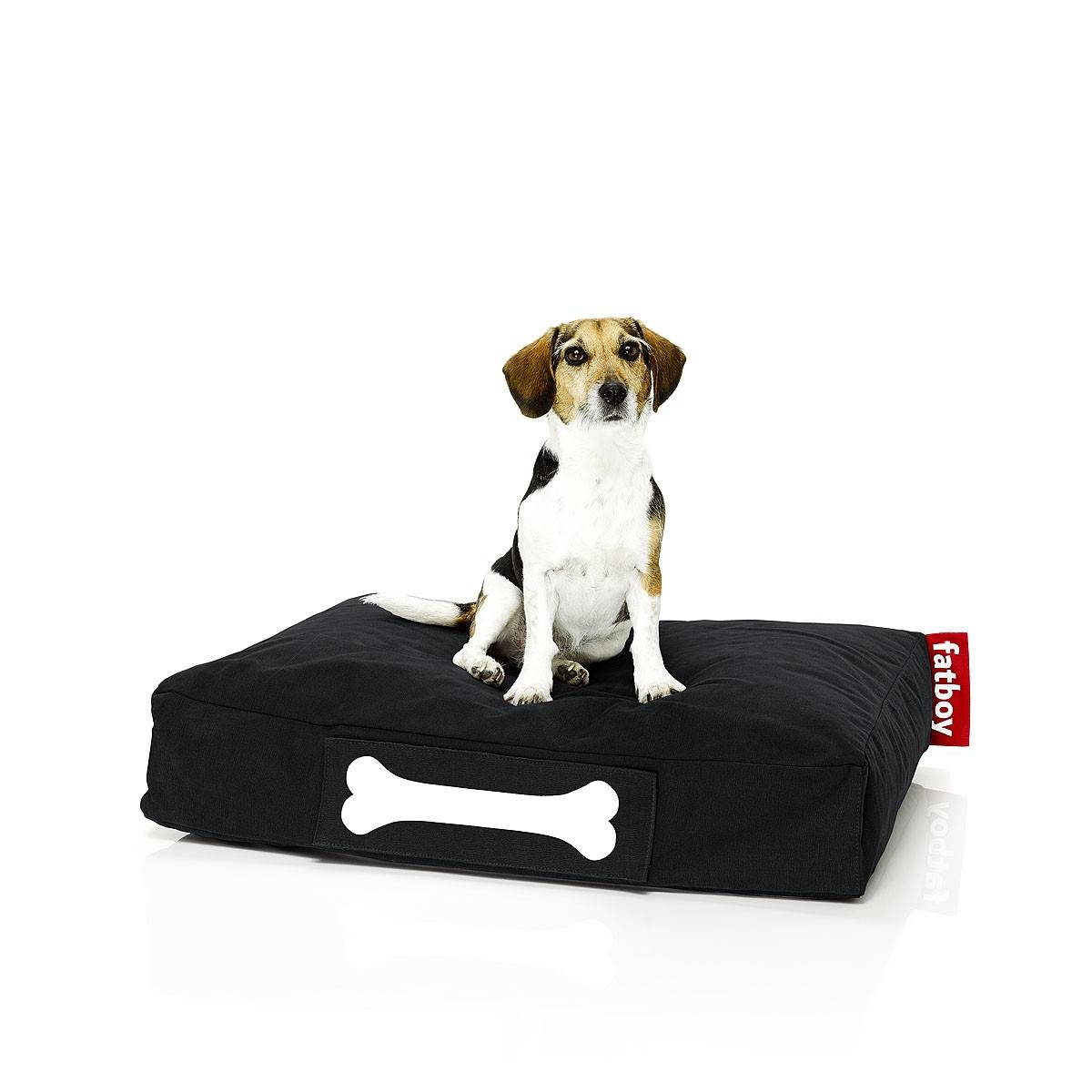 FATBOY sac pouf pour chiens et chats DOGGIELOUNGE STONEWASHED SMALL (Noir - 100% Coton)