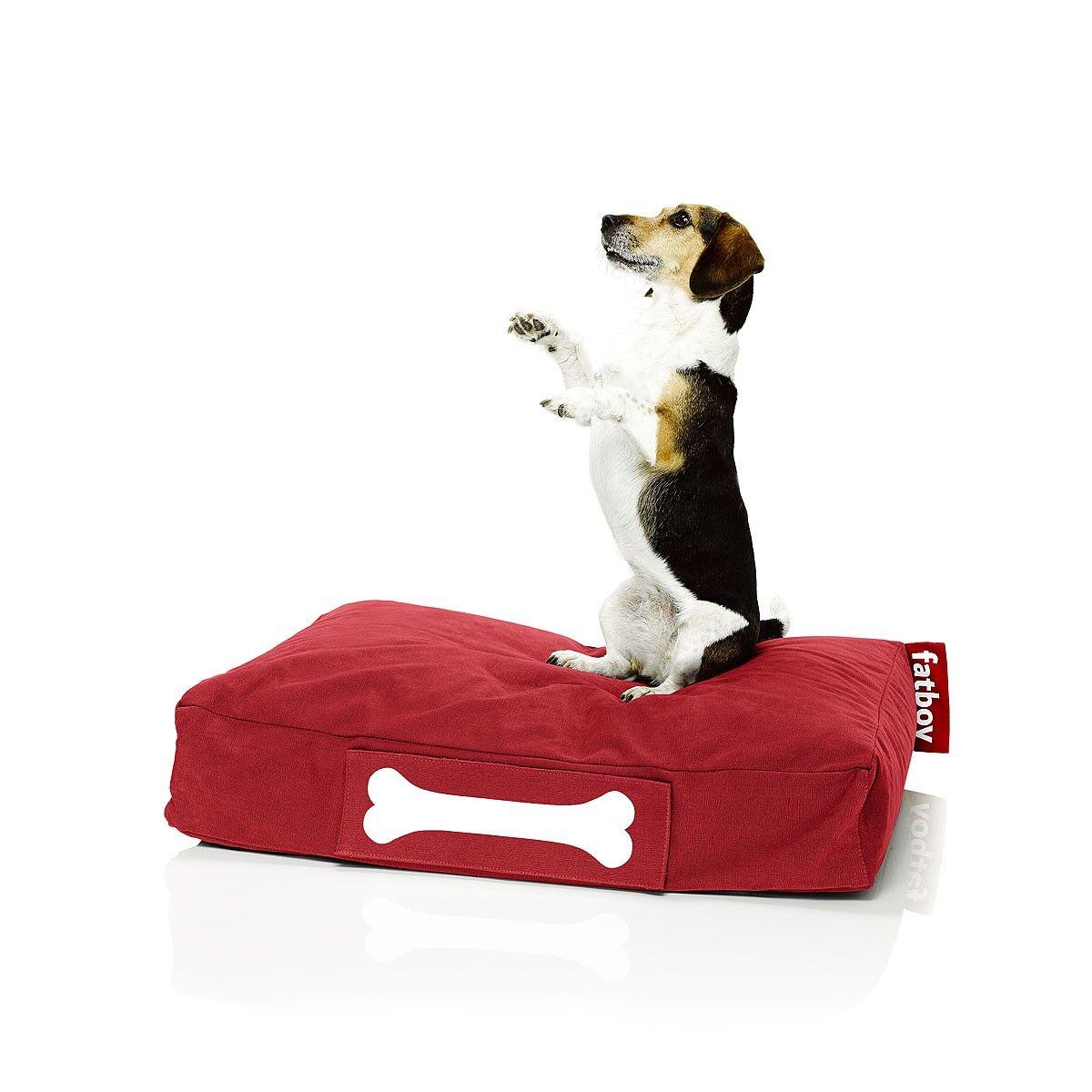 FATBOY sac pouf pour chiens et chats DOGGIELOUNGE STONEWASHED SMALL (Rouge - 100% Coton)