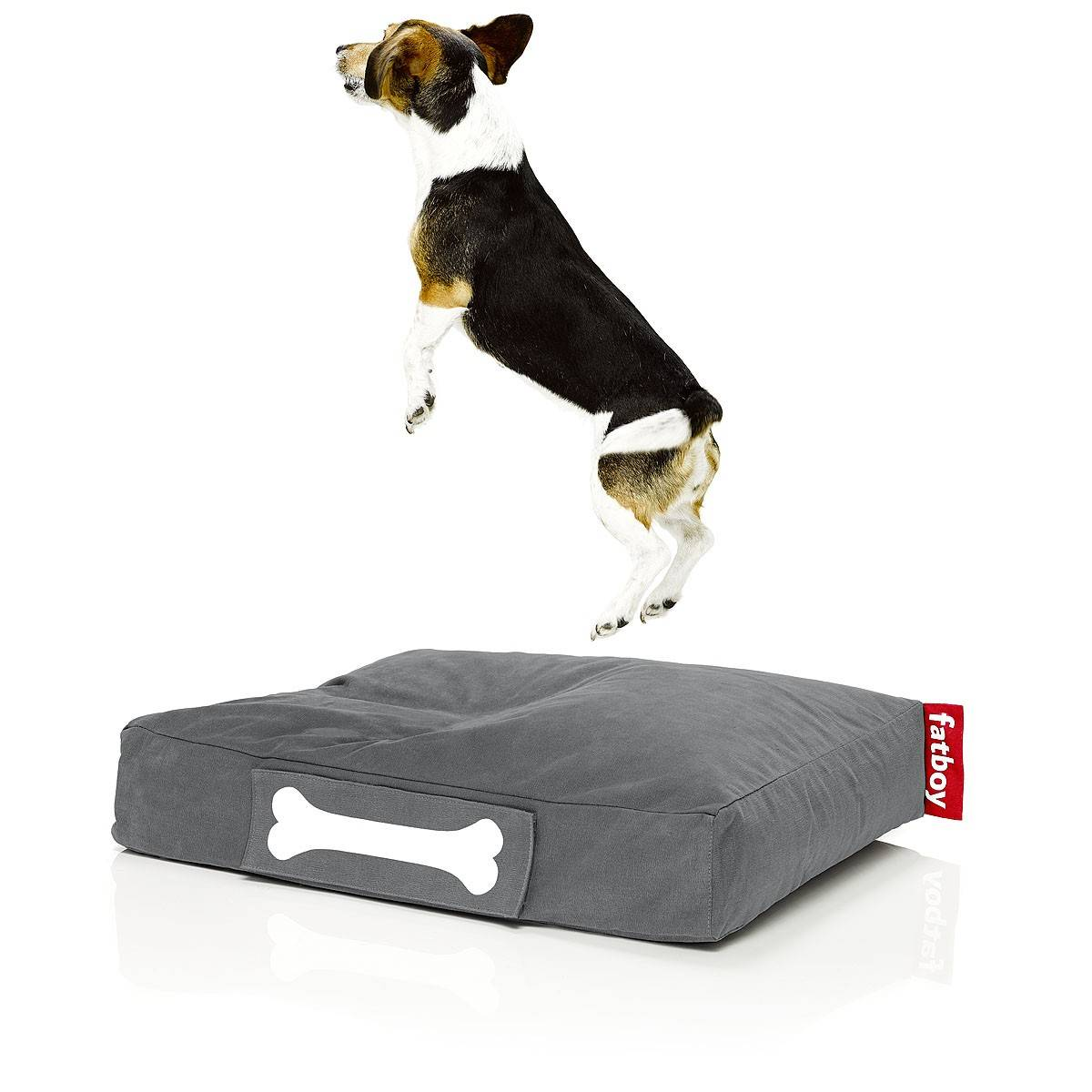 FATBOY sac pouf pour chiens et chats DOGGIELOUNGE STONEWASHED SMALL (Gris - 100% Coton)