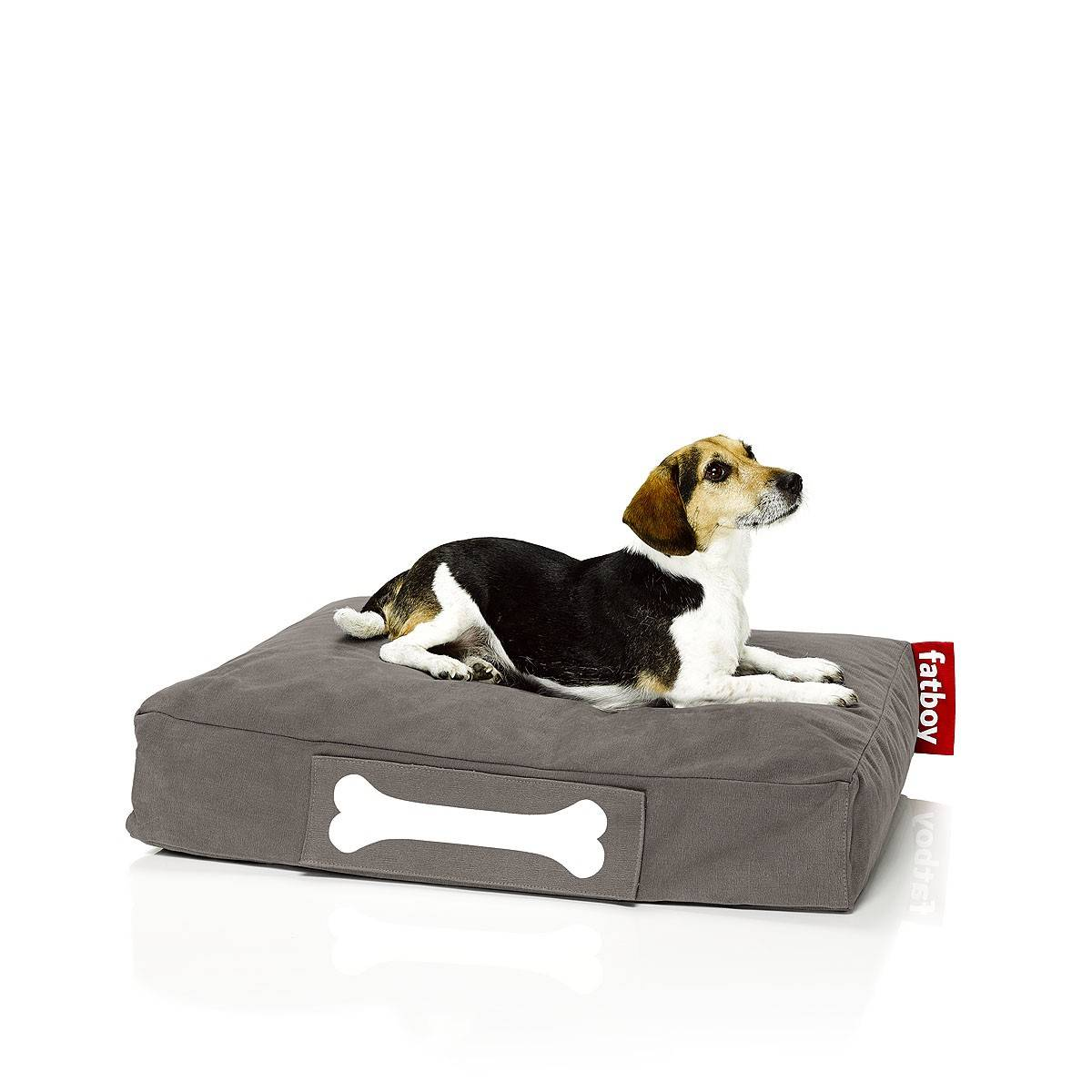 FATBOY sac pouf pour chiens et chats DOGGIELOUNGE STONEWASHED SMALL (Taupe - 100% Coton)