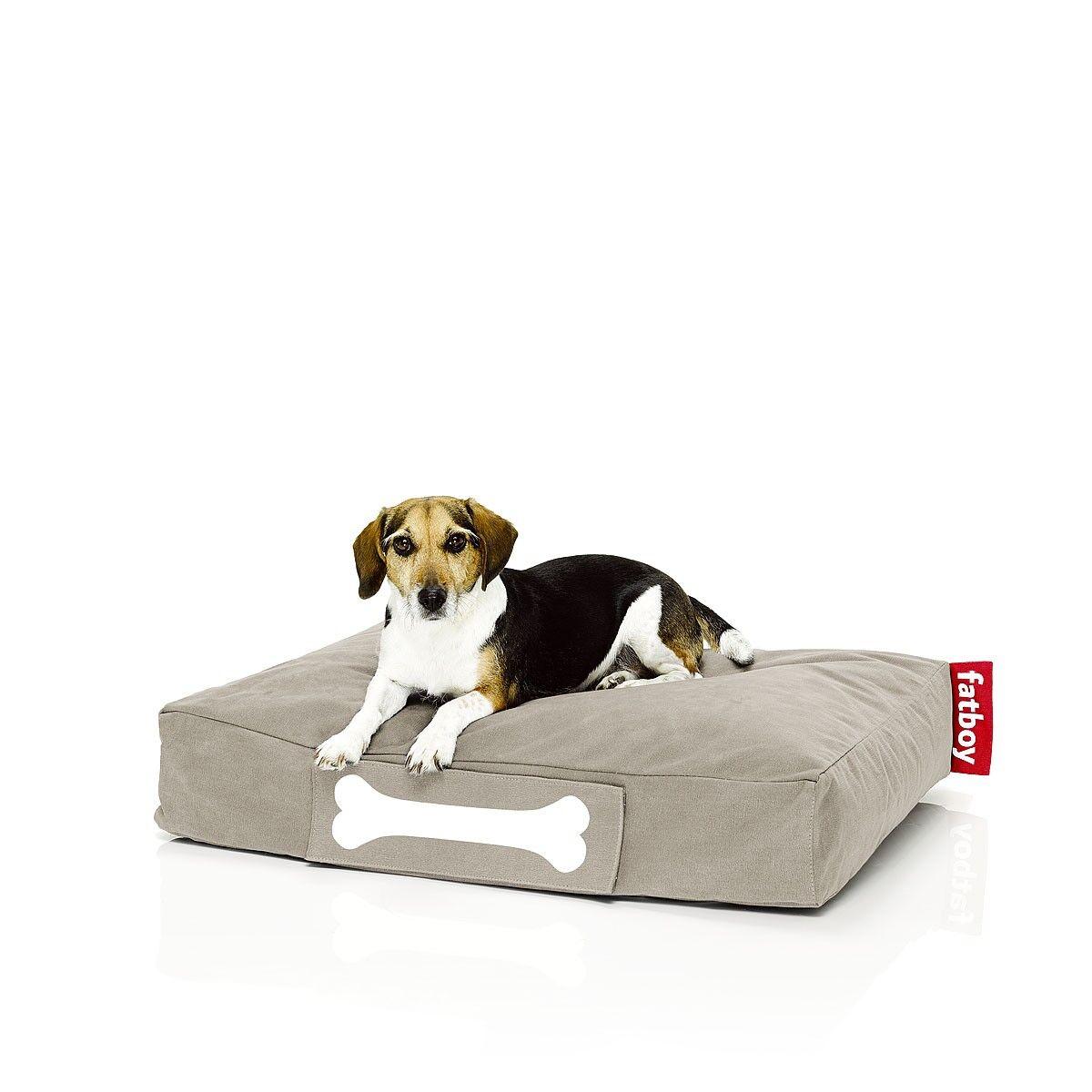 FATBOY sac pouf pour chiens et chats DOGGIELOUNGE STONEWASHED SMALL (Sable - 100% Coton)