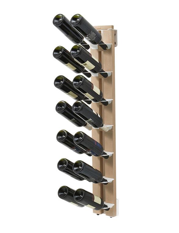 LE ZIE DI MILANO porte-bouteilles sur pied une face fixé au mur ZIA GAIA (H 110 cm / Naturel - Hêtre massif et acier)