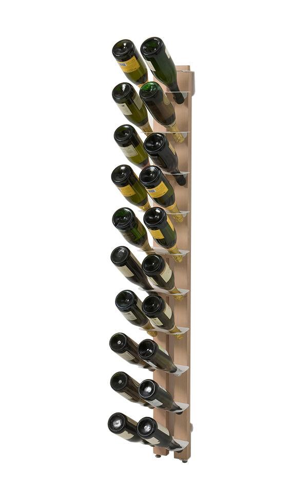 LE ZIE DI MILANO porte-bouteilles sur pied une face fixé au mur ZIA GAIA (H 156 cm / Naturel - Hêtre massif et acier)