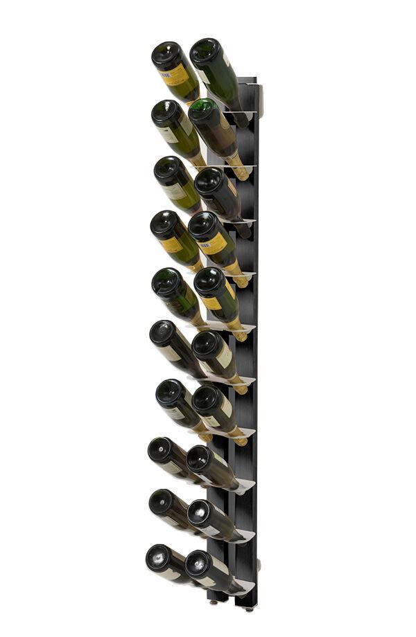 LE ZIE DI MILANO porte-bouteilles sur pied une face fixé au mur ZIA GAIA (H 156 cm / Noir - Hêtre massif et acier)