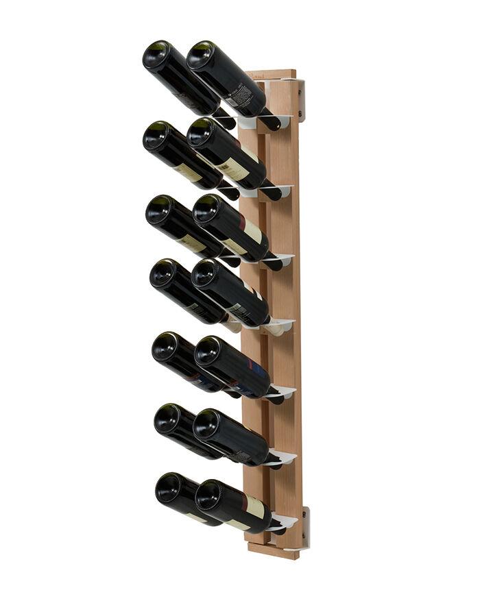 LE ZIE DI MILANO porte-bouteilles une face fixé au mur ZIA GAIA (H 112 cm / Naturel - Hêtre massif et acier)