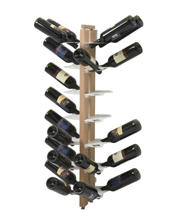 LE ZIE DI MILANO porte-bouteilles sur pied double face fixé au mur ZIA GAIA (H 110 cm / Naturel - Hêtre massif et acier)