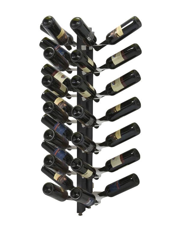 LE ZIE DI MILANO porte-bouteilles sur pied double face fixé au mur ZIA GAIA (H 110 cm / Noir - Hêtre massif et acier)